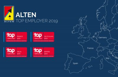 ALTEN Group is labellised Top Employer© in 4 countries in Europe