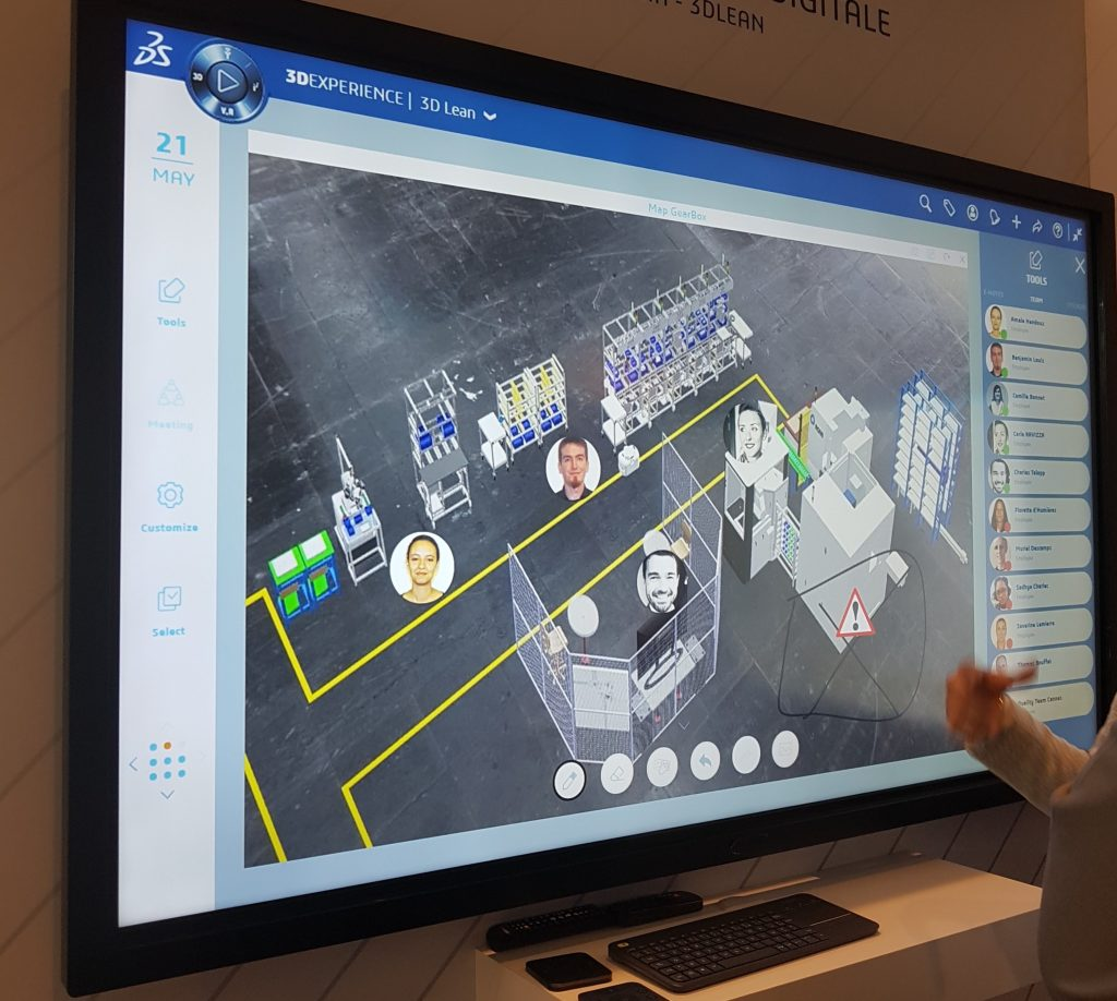 3DEXPERIENCE, The platform allows a global visualization to advance a project