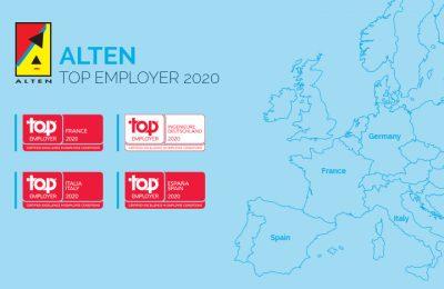ALTEN labellisé Top Employer© France et dans 3 autres pays