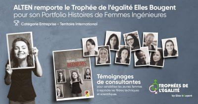 «Histoires de femmes ingénieures» récompensé par le Trophée de l'égalité Elles Bougent 2020